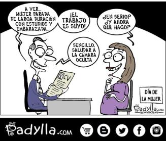 Padylla trabajo en el dia internacional de la mujer
